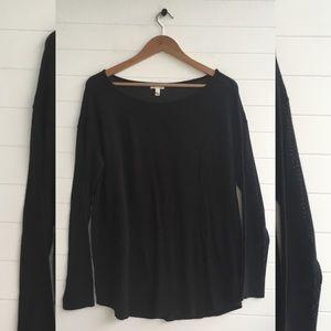 [Soft Joie] NWOT Black Basic Jersey Long Sleeve